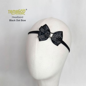 Black Dot Bow Headband
